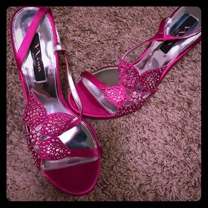 Nina pink sparkly heels